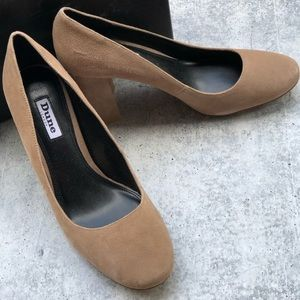 NEW Dune London Abelle Suede Block Heel Pump 39 8